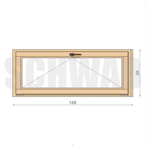 150x60 cm fa ablak