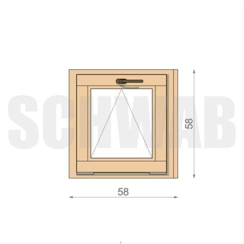 60x60 cm fa ablak