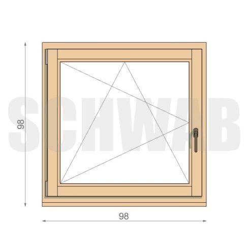 100x100 cm fa ablak