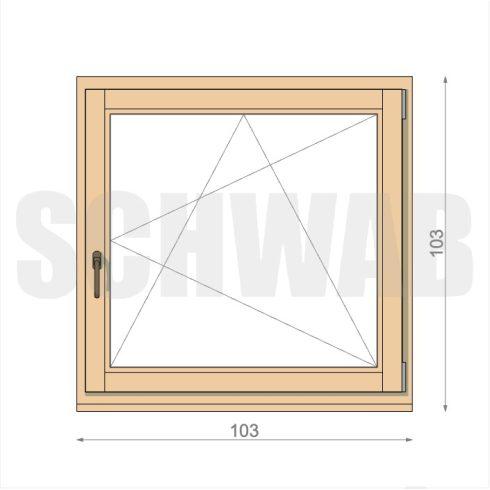 105x105 cm fa ablak