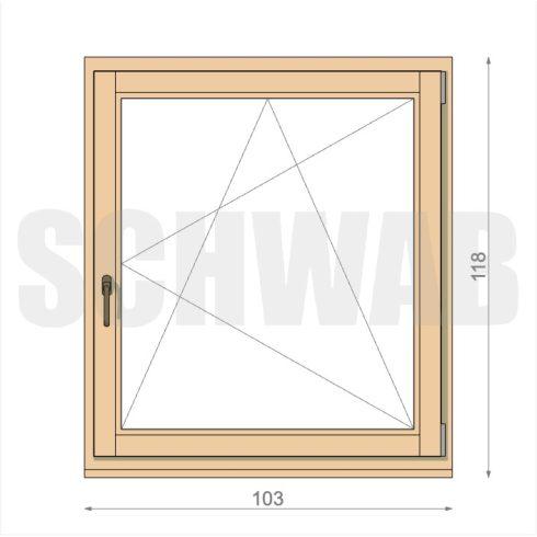 105x120 cm fa ablak