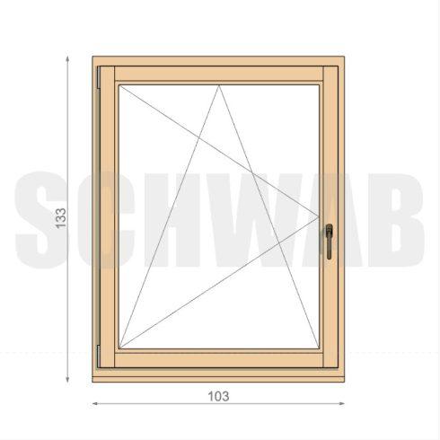 105x135 cm fa ablak