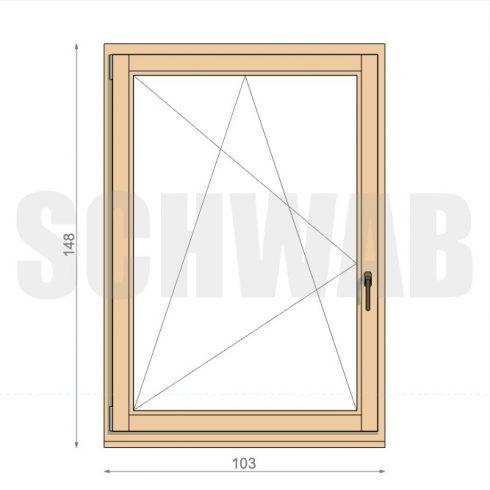105x150 cm fa ablak