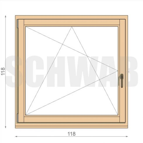 120x120 cm fa ablak