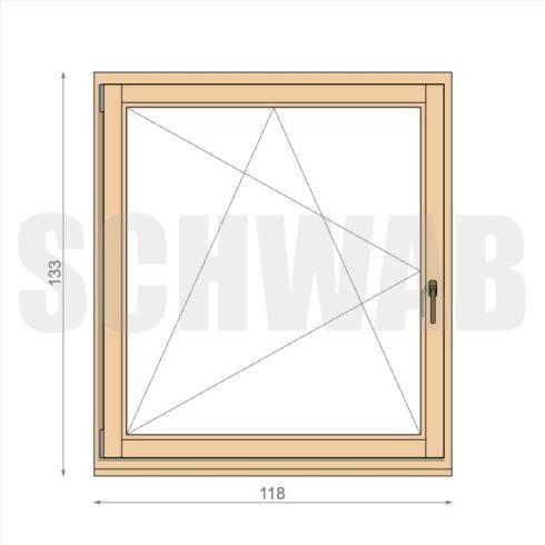 120x135 cm fa ablak