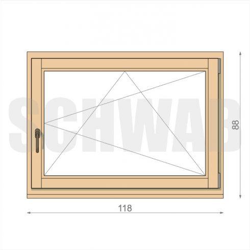 120x90 cm fa ablak