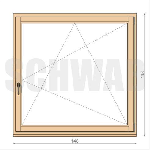 150x150 cm fa ablak