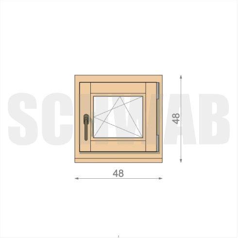 50x50 cm fa ablak