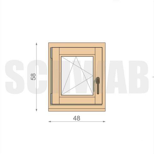 50x60 cm fa ablak