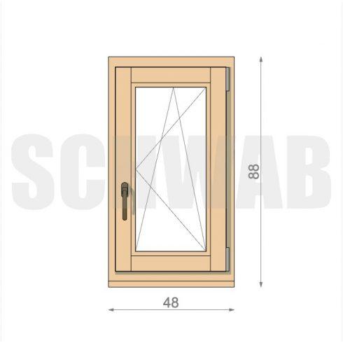 50x90 cm fa ablak