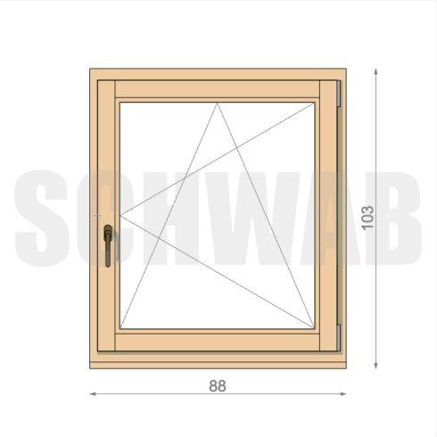 90x105 cm fa ablak
