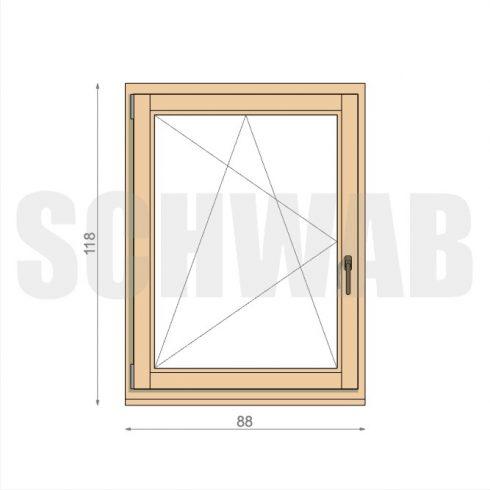90x120 cm fa ablak