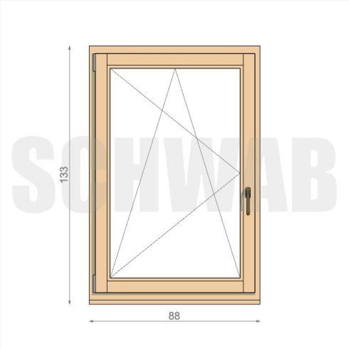 90x135 cm fa ablak