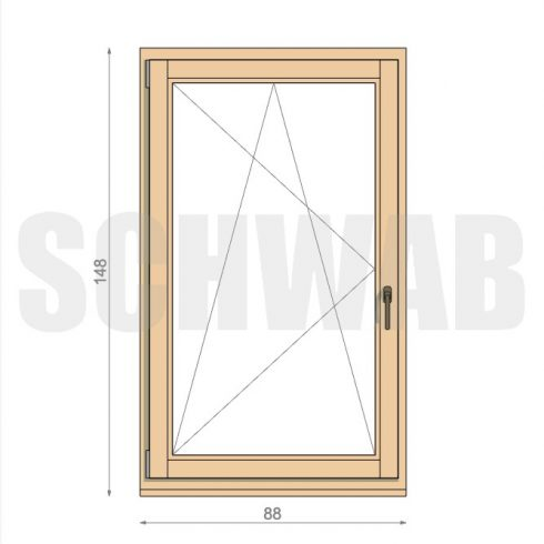 90x150 cm fa ablak