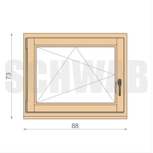 90x75 cm fa ablak