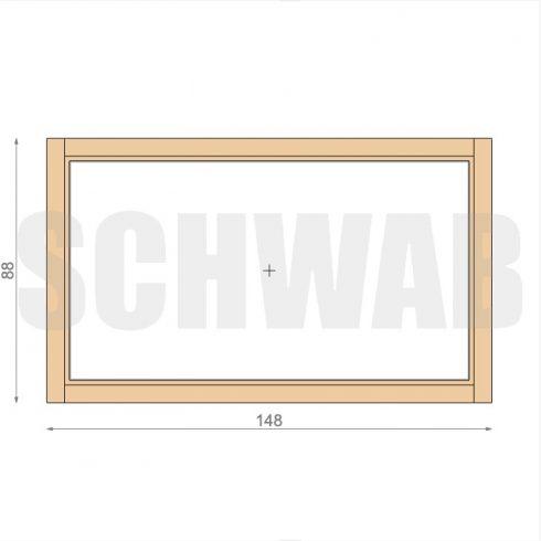 150x90 cm fa ablak