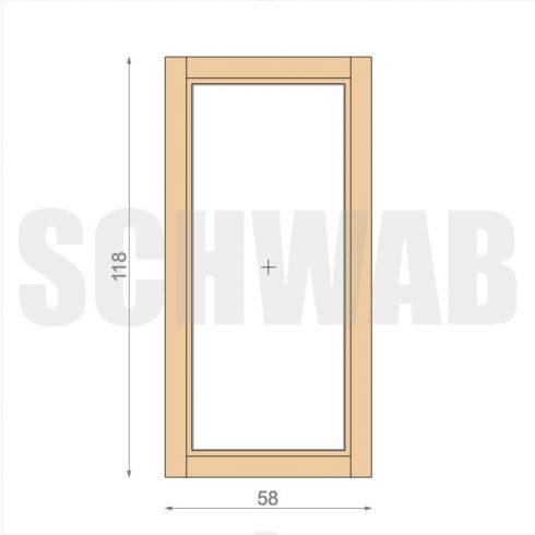 60x120 cm fa ablak