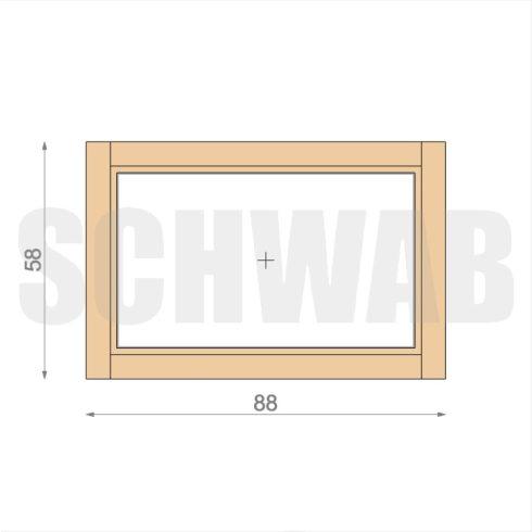90x60 cm fa ablak