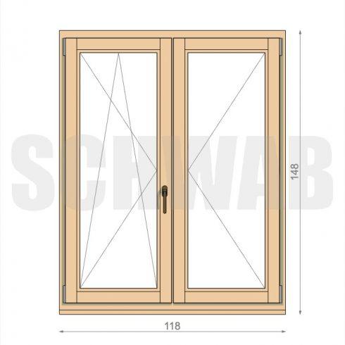 120x150 cm fa ablak