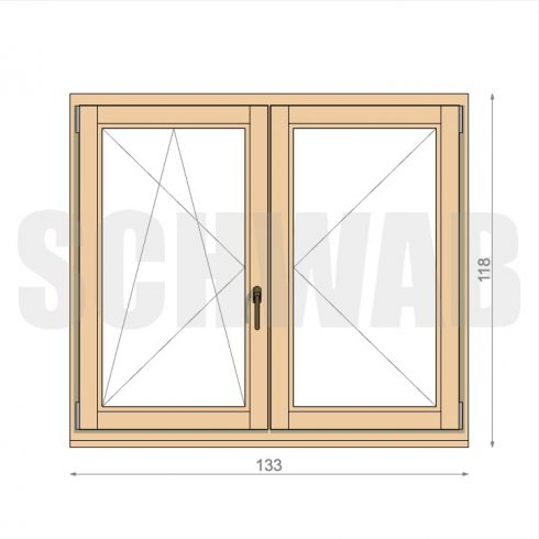 135x120 cm fa ablak