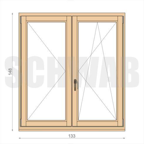 135x150 cm fa ablak