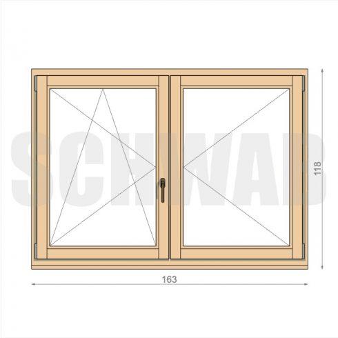 165x120 cm fa ablak