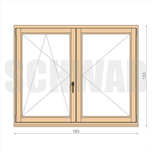 165x135 cm fa ablak