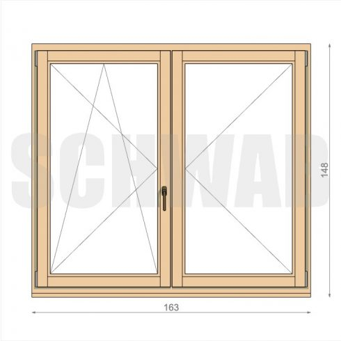 165x150 cm fa ablak