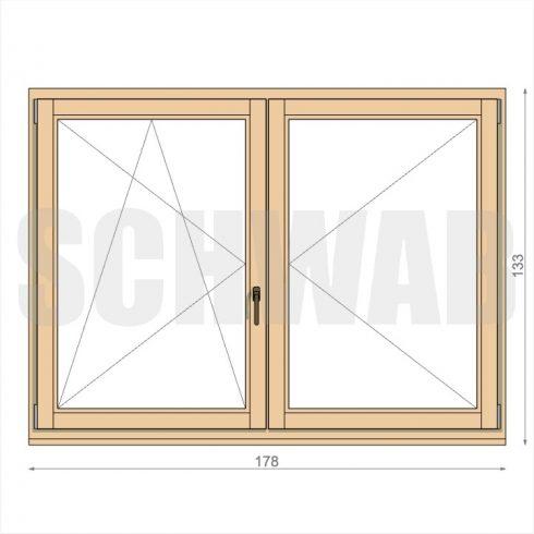 180x135 cm fa ablak
