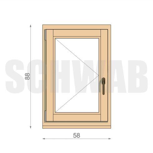 60x90 cm fa ablak
