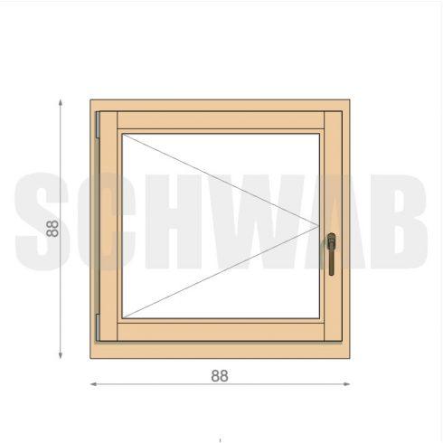 90x90 cm fa ablak
