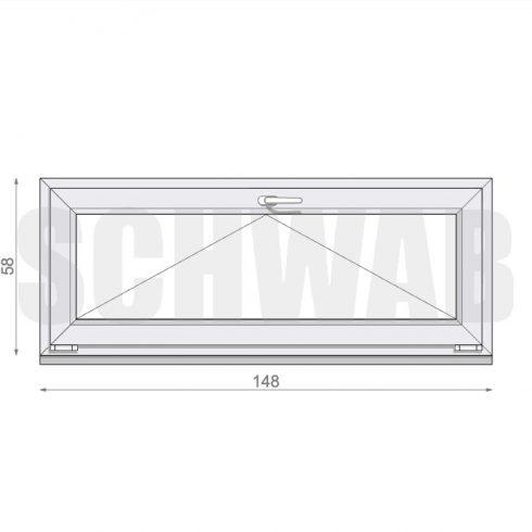 150x60 cm műanyag ablak