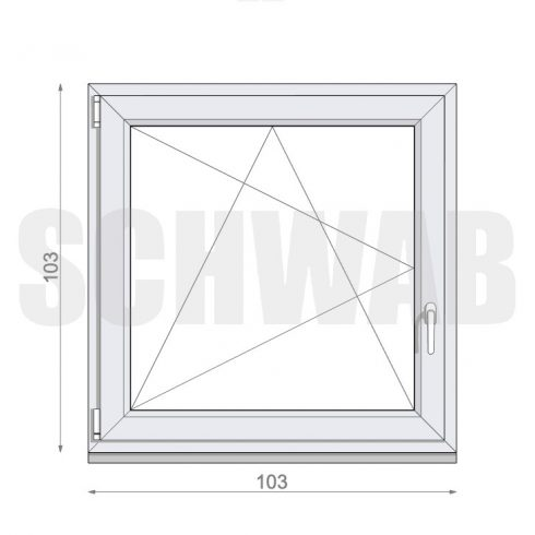105x105 cm műanyag ablak