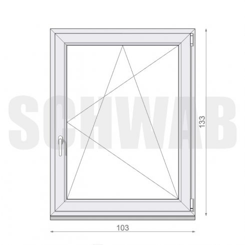 105x135 cm műanyag ablak