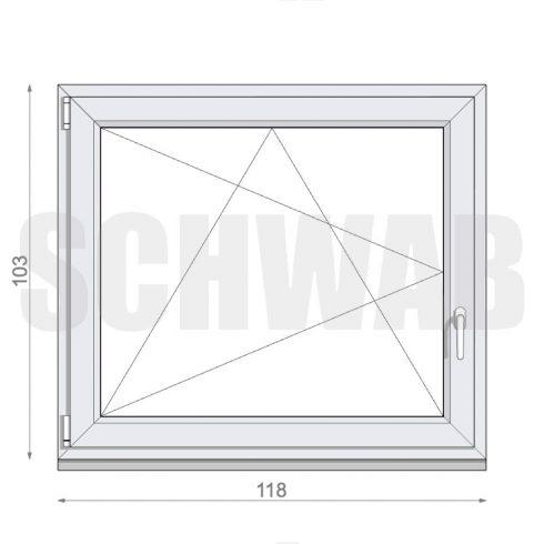 120x105 cm műanyag ablak