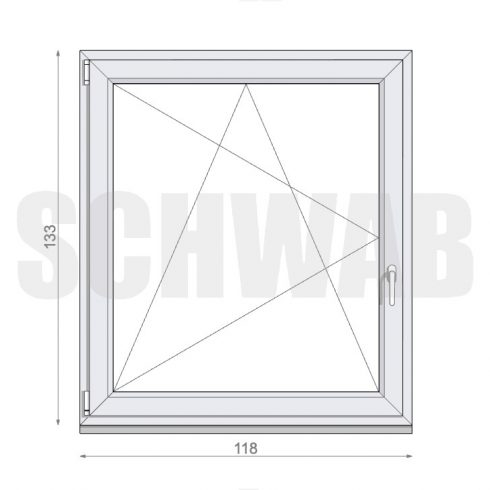 120x135 cm műanyag ablak