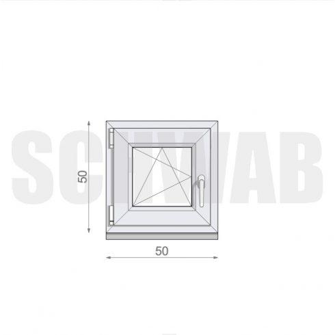 52x52 cm műanyag ablak
