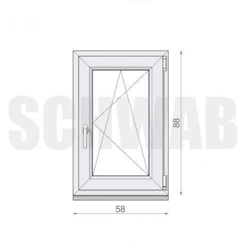 60x90 cm műanyag ablak