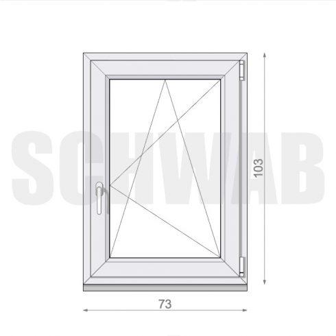 75x105 cm műanyag ablak