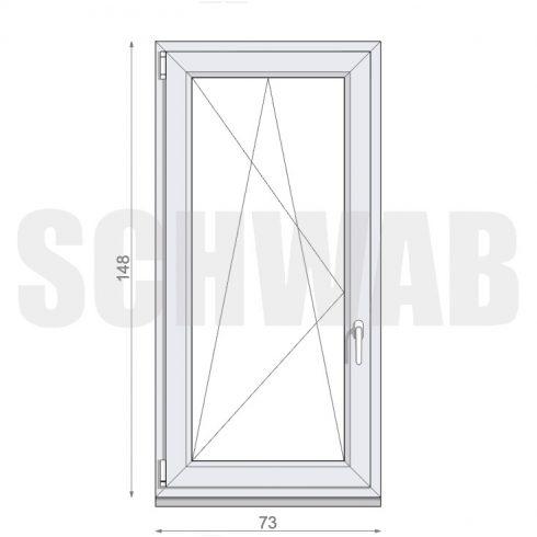 75x150 cm műanyag ablak