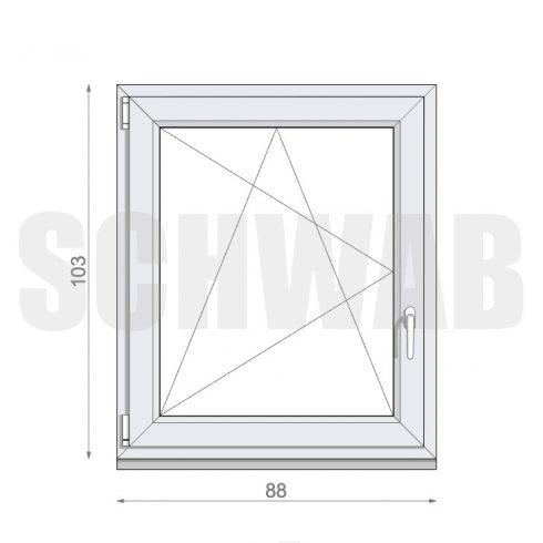 90x105 cm műanyag ablak