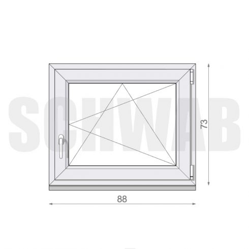 90x75 cm műanyag ablak