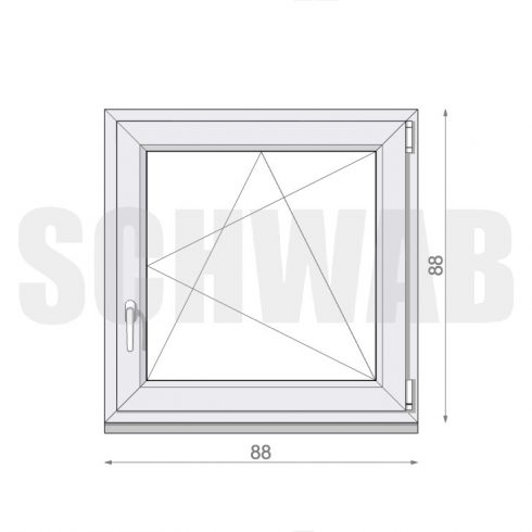 90x90 cm műanyag ablak