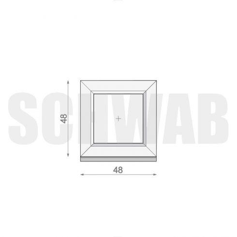 50x50 cm műanyag ablak