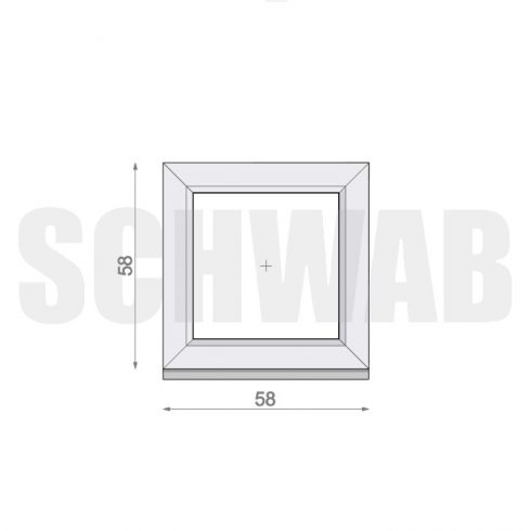 60x60 cm műanyag ablak
