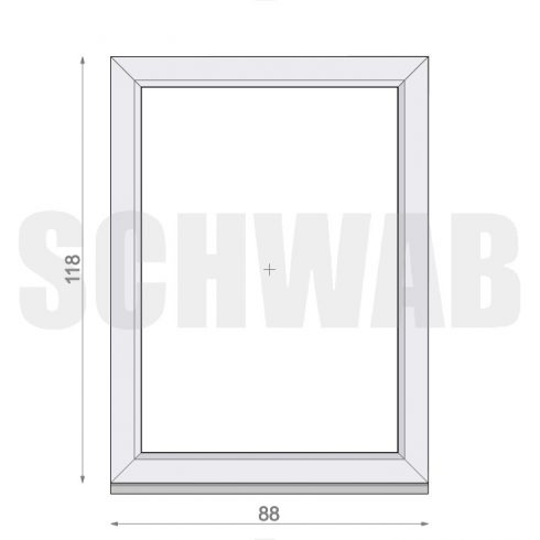 90x120 cm műanyag ablak