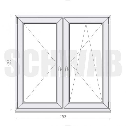135x135 cm műanyag ablak